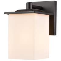 Broad Street 1 Light 8 inch Textured Black Outdoor Wall Sconce