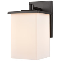 Broad Street 1 Light 10 inch Textured Black Outdoor Wall Sconce