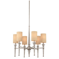 Allure 6 Light 26 inch Brushed Nickel Chandelier Ceiling Light