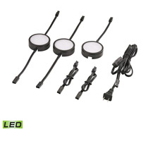 Tuxedo LED 3 inch Black Under Cabinet Light Set, 3 Piece