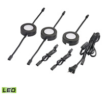 Tuxedo Swivel LED 3 inch Black Under Cabinet Light Set, 3 Piece