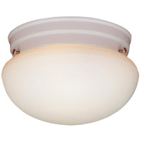 Essentials 1 Light 8 inch Matte White Flush Mount Ceiling Light