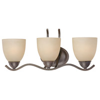 Triton 3 Light 21 inch Sable Bronze Wall Sconce Wall Light