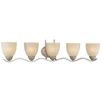 Triton 5 Light 36 inch Moonlight Silver Wall Sconce Wall Light