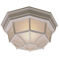 Thomas Lighting SL7458 Outdoor Essentials 1 Light 11 inch Matte White Exterior Flush Mount