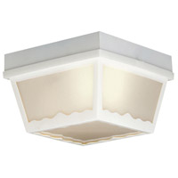 Thomas Lighting SL7578 Outdoor Essentials 1 Light 8 inch Matte White Exterior Flush Mount