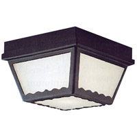Essentials 2 Light 10 inch Black Outdoor Flush Mount