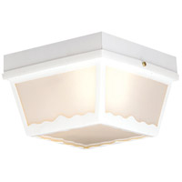 Thomas Lighting SL7598 Essentials 2 Light 10 inch Matte White Outdoor Flush Mount