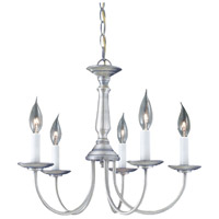 Essentials 5 Light 19 inch Brushed Nickel Chandelier Ceiling Light