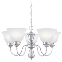 Whitmore 5 Light 24 inch Brushed Nickel Chandelier Ceiling Light