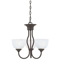 Tahoe 3 Light 19 inch Painted Bronze Chandelier Ceiling Light