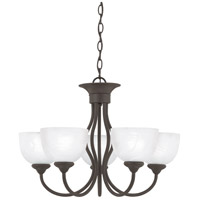 Tahoe 5 Light 24 inch Painted Bronze Chandelier Ceiling Light