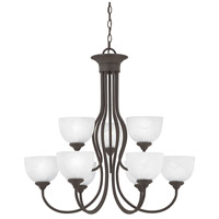 Tahoe 9 Light 30 inch Painted Bronze Chandelier Ceiling Light