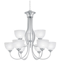 Thomas Lighting SL801678 Tahoe 9 Light 30 inch Brushed Nickel Chandelier Ceiling Light