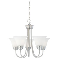 Bella 5 Light 22 inch Brushed Nickel Chandelier Ceiling Light