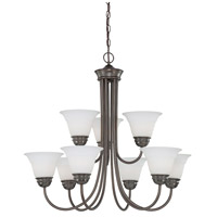 Bella 9 Light 32 inch Oiled Bronze Chandelier Ceiling Light
