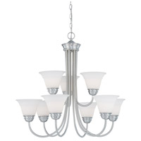 Bella 9 Light 32 inch Brushed Nickel Chandelier Ceiling Light