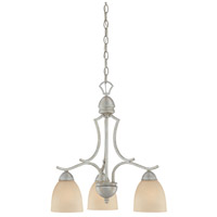 Thomas Lighting SL808172 Triton 3 Light 20 inch Moonlight Silver Chandelier Ceiling Light