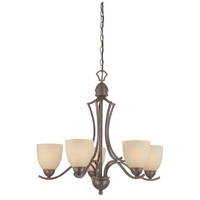 Thomas Lighting SL808222 Triton 5 Light 26 inch Sable Bronze Chandelier Ceiling Light