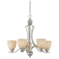 Thomas Lighting SL808272 Triton 5 Light 26 inch Moonlight Silver Chandelier Ceiling Light
