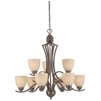 Thomas Lighting SL808322 Triton 9 Light 31 inch Sable Bronze Chandelier Ceiling Light