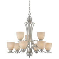 Thomas Lighting SL808372 Triton 9 Light 31 inch Moonlight Silver Chandelier Ceiling Light