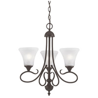 Elipse 3 Light 20 inch Painted Bronze Chandelier Ceiling Light