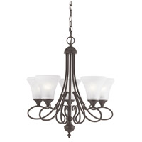 Elipse 5 Light 24 inch Painted Bronze Chandelier Ceiling Light