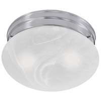 Essentials 2 Light 10 inch Brushed Nickel Flush Mount Ceiling Light