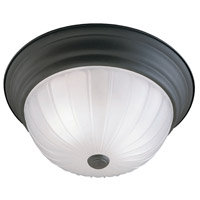 Essentials 2 Light 13 inch Painted Bronze Flush Mount Ceiling Light