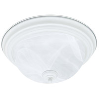 Essentials 2 Light 13 inch Textured White Flush Mount Ceiling Light