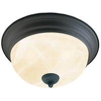 Harmony 2 Light 13 inch Painted Bronze Flush Mount Ceiling Light
