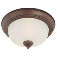 Essentials 2 Light 13 inch Colonial Bronze Flush Mount Ceiling Light