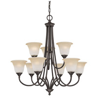Thomas Lighting SL880262 Harmony 9 Light 31 inch Aged Bronze Chandelier Ceiling Light