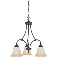 Thomas Lighting SL880362 Harmony 3 Light 20 inch Aged Bronze Chandelier Ceiling Light