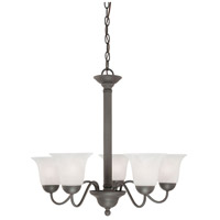 Riva 5 Light 25 inch Painted Bronze Chandelier Ceiling Light