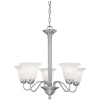 Riva 5 Light 25 inch Brushed Nickel Chandelier Ceiling Light