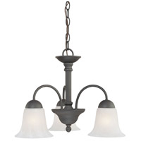 Thomas Lighting SL881263 Riva 3 Light 19 inch Painted Bronze Chandelier Ceiling Light