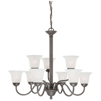 Riva 9 Light 32 inch Painted Bronze Chandelier Ceiling Light