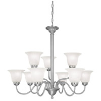 Riva 9 Light 32 inch Brushed Nickel Chandelier Ceiling Light