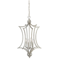 Thomas Lighting SL893672 Triton 4 Light 18 inch Moonlight Silver Chandelier Ceiling Light