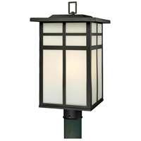 Mission 3 Light 20 inch Black Outdoor Post