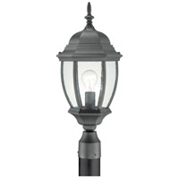Covington 1 Light 22 inch Black Outdoor Post