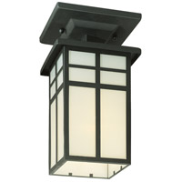 Mission 1 Light 6 inch Black Flush Mount Ceiling Light