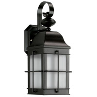 Essentials 1 Light 15 inch Black Outdoor Wall Sconce