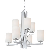 Pendenza 8 Light 27 inch Brushed Nickel Chandelier Ceiling Light