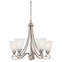 Haven 5 Light 24 inch Satin Pewter Chandelier Ceiling Light