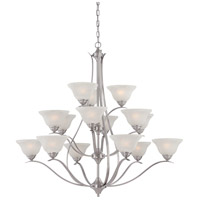 Prestige 15 Light 48 inch Brushed Nickel Chandelier Ceiling Light