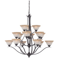 Prestige 15 Light 48 inch Sable Bronze Chandelier Ceiling Light