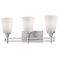 Wright 3 Light 23 inch Matte Nickel Wall Sconce Wall Light